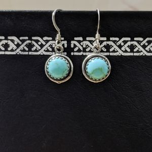 Sterling Silver Turquoise Dangling Earrings